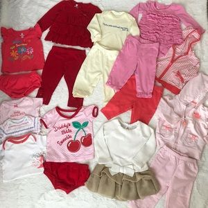 clothes for baby girl in 3m-6m matching sets-dress